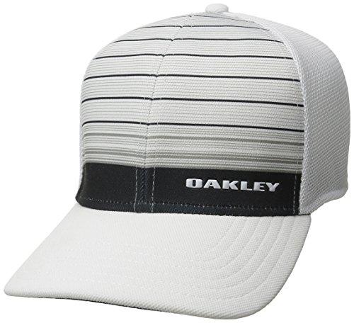 Oakley Men's 4.0 Print Silicon Bark Trucker, Grey/White, - Large Oakley For Head