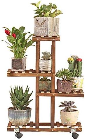 TANGIST 木製 花棚 植物棚 花は、工場では木製インテリアフラワーポットシェルフマルチレイヤガーデン展示棚のストレージシェルフフロア立ちラックアンチ腐食プラントスタンドスタンドラック 組み立て式 頑丈
