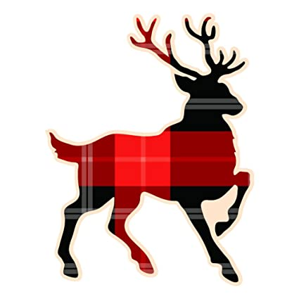 Noble red plaid buck deer 6 inchfull color vinyl decal for indoor or outdoor use