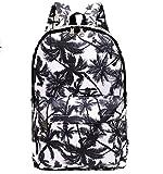Urmiss Graffiti Printed Canvas Casual Backpack