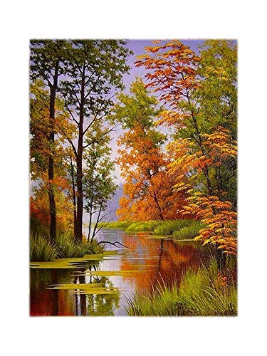 5D Diamond Embroidery Landscape Pictures of Rhinestones Diamond Painting Full Square Forest Cross Stitch Home Decor,M-3461,50x70cm