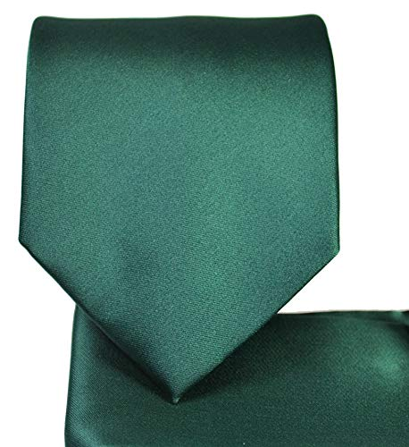 Oliver George Solid Pattern NeckTie Set (Forrest - Men Necktie Accessories