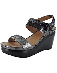 Gentle Souls Womens Juniper Berry Metallic Wedge Sandal Shoe