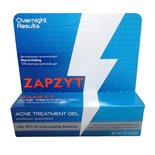Zapzyt Force Maximale De 10% De Peroxyde De Benzoyle Traitement De L'Acné Gel, 1 Once