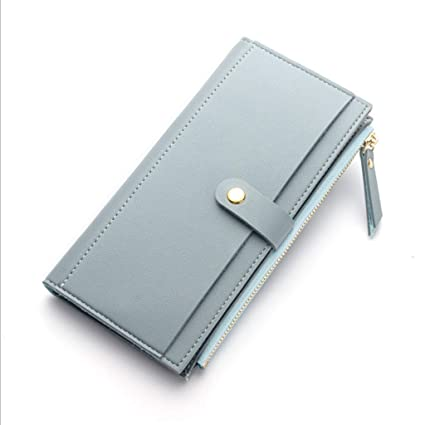 726fe2594 Zmsdt Billetera para Mujer Moda Hebilla Billetera De Cuero Billetera para  Mujer Bolso Clutch Billetera para