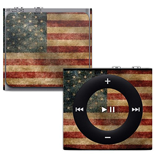 MightySkins Skin for Apple iPod Shuffle 4G - Vintage Flag | Protective, Durable, and Unique Vinyl Decal wrap Cover | Easy to Apply, Remove, and Change Styles | Made in The USA (Case Protective Shuffle Silicone)