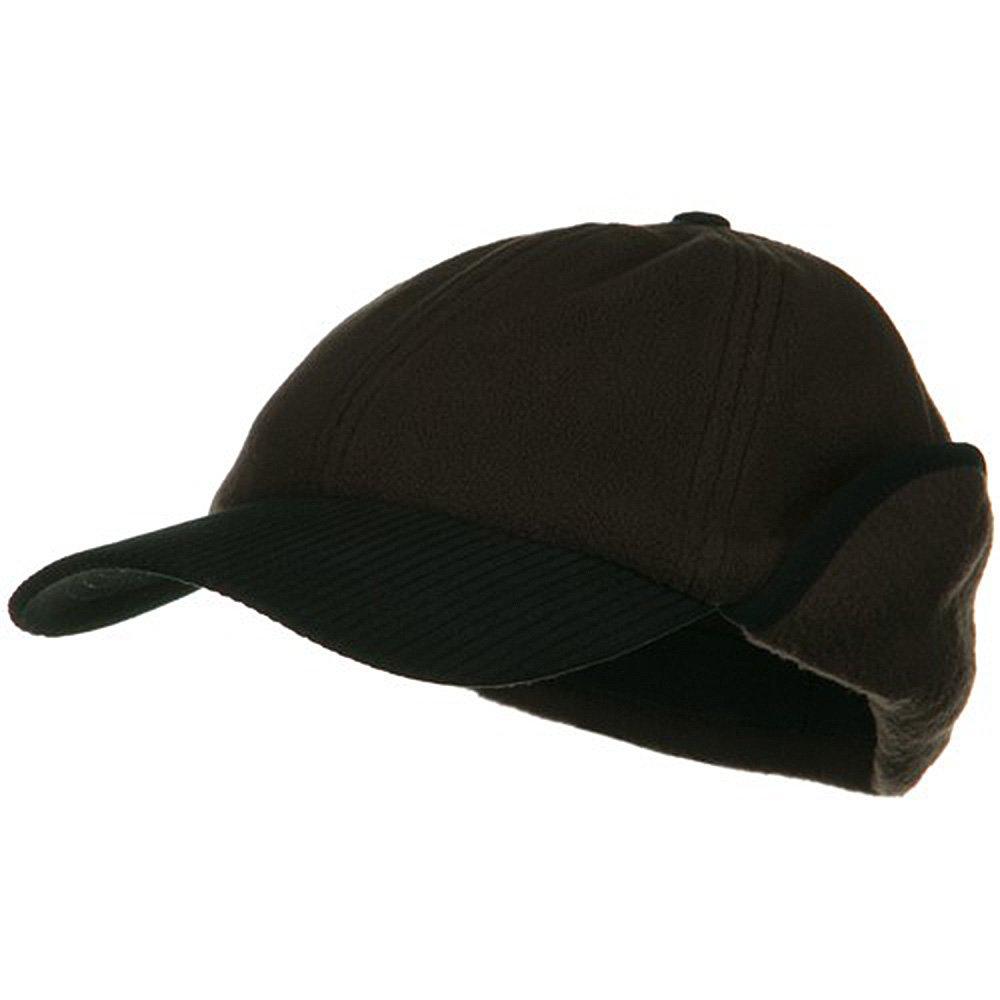 e4Hats.com Anti Pilling Fleece Cap with Warmer Flap - Brown OSFM