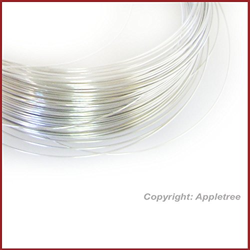 5FT Solid Sterling Silver Wire 26ga Round - 26 gauge - Half Hard Made in USA