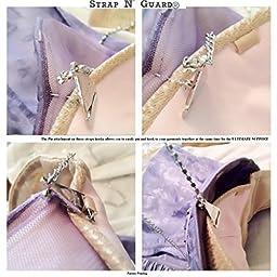 Strap N\' Guard Single Row Black Rhinestones Bra Dress Straps, Ultimate Support