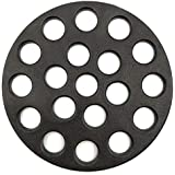 FIRECOW Round Cast Iron Grate, BBQ High Heat Charcoal Plate Fit for Big Green Egg Small Grate and Mini Kamado Joe Grill Charcoal Replacement Parts Fire Cooking Grate Green Egg Accessories-5.9inch