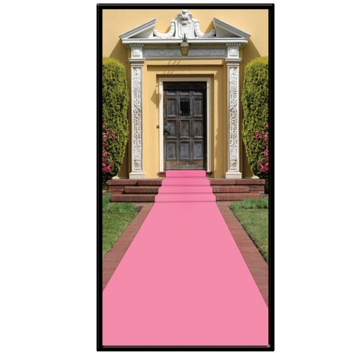 Beistle Carpet Runner, 24in by 15 ft, Pink - Pink Carpet