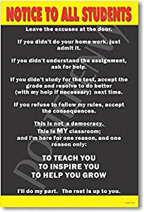 Notice to All Students - Classroom Motivational Poster