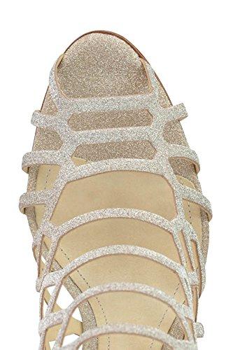 SCHUTZ Sandalias de Vestir de Otra Piel Para Mujer Dorado Dorado