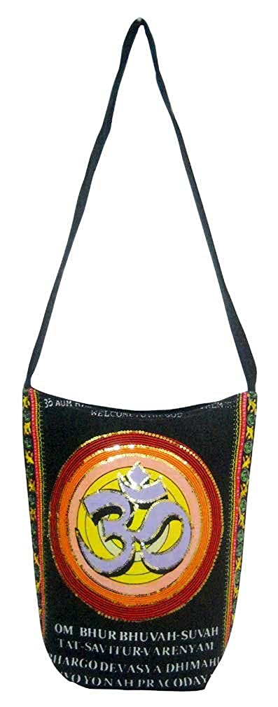 Auspicious Aum Om Design Banjara Tribal Handmade Indian Sling Shoulder Bag