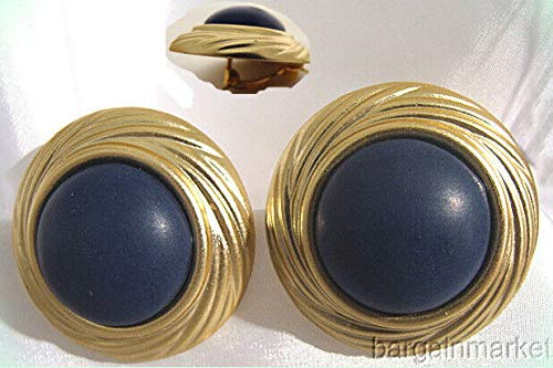 - GP Button Style Round Light Weight Lucite Clip On Earrings For Women