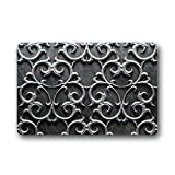 Metal Doormat Rubber Non-Slip Personalized Doormat for Indoor and Outdoor (18''x 30'')
