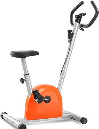 Aparatos de ejercicios unisex de la bicicleta estática plegable, plegable ajustable Manillar de altura del asiento principal New magnética Resistencia Cardio entrenamiento de visualización con el sens: Amazon.es: Hogar