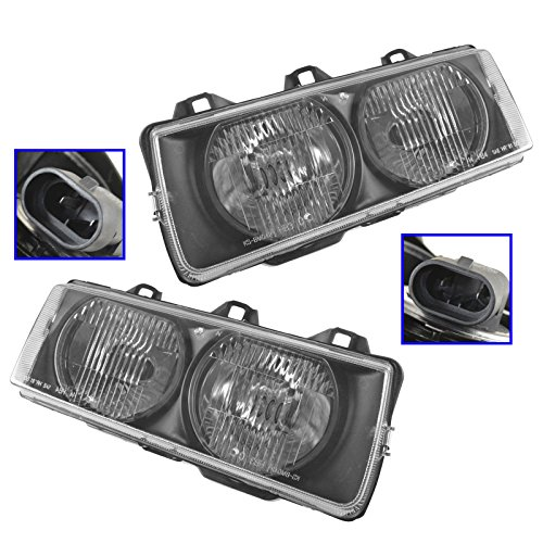 Headlights Headlamps Left & Right Pair Set of 2 for 92-99 BMW E36 3 Series ()