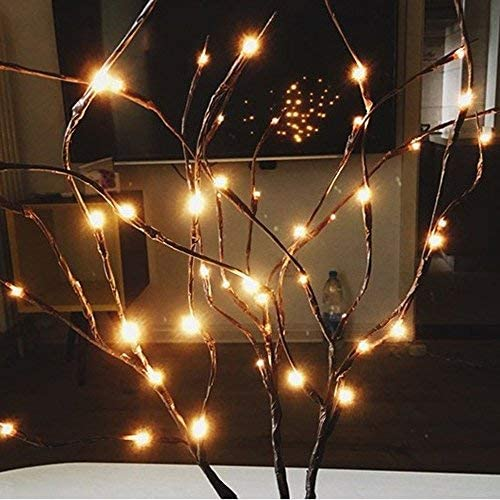 77CM LED Willow Branch Floral Night Light Battery Operated with 20 Bulbs for