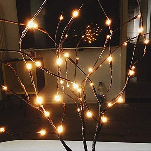 (Fabal LED Willow Branch Lamp,Floral Decoration Lamps 20 Bulbs Home Christmas Party Garden Decor)