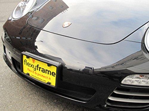 A NASA-like Rubber Front License Plate Bracket Frame Tag Holder Guard Bumper for PORSCHE