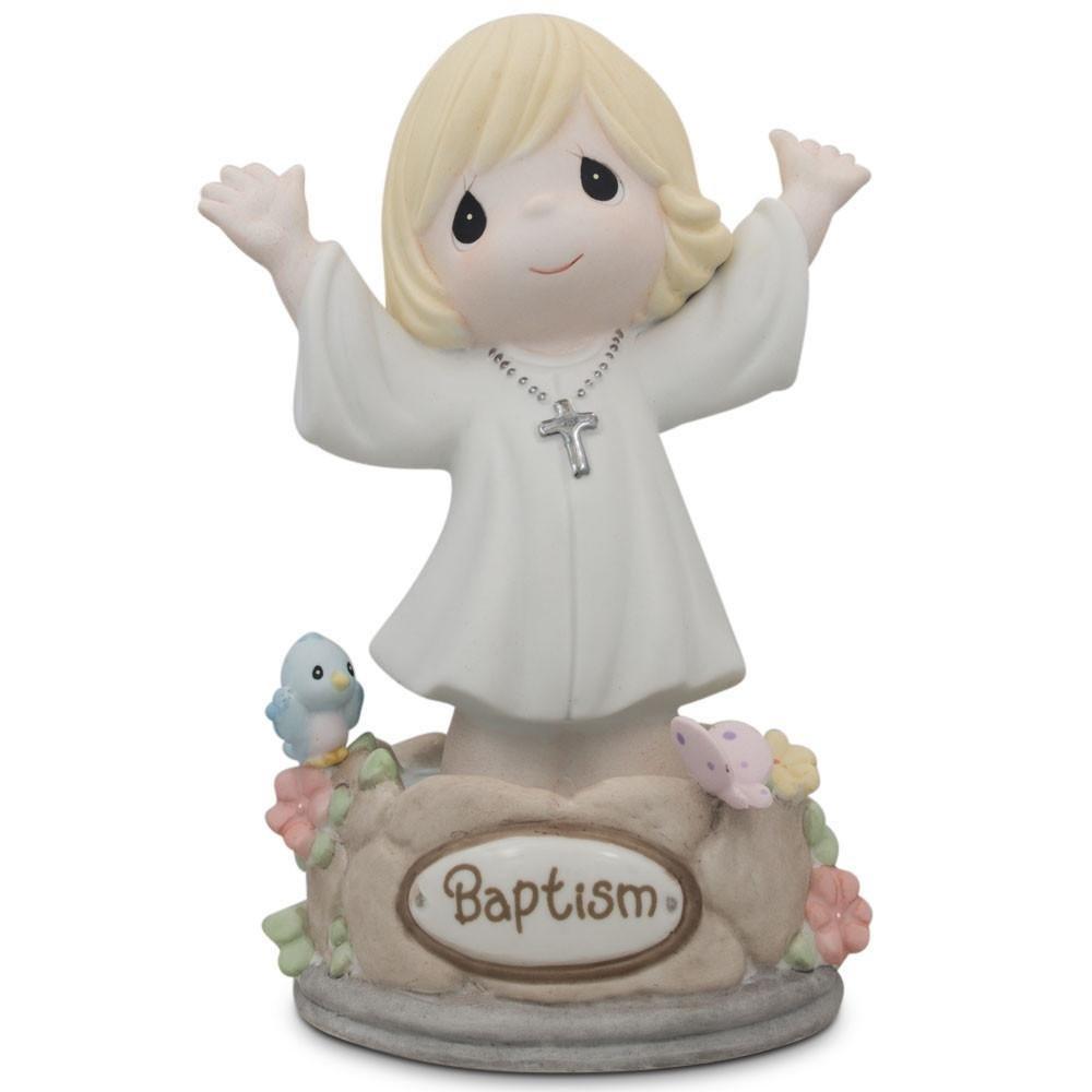 BestPysanky 5.5'' Girl Immersed in God's Love Porcelain Communion Figurine