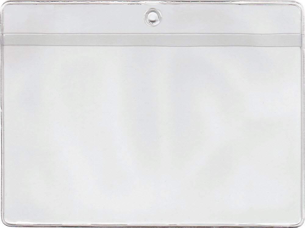 11 3/4 x 8 1/4 Job Ticket Holder Vinyl Plastic Sleeve, Set of 100, 1.190 Each, Long Side Opening, Extra Heavy Duty 10 mil Crystal Clear Vinyl