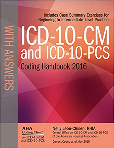 Icd 10 cm and icd 10 pcs coding handbook with answers 2016 rev ed icd 10 cm and icd 10 pcs coding handbook with answers 2016 rev ed 9781556484117 medicine health science books amazon fandeluxe Choice Image
