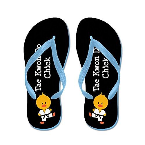 (CafePress - Tae Kwon Do Chick - Flip Flops, Funny Thong Sandals, Beach Sandals Caribbean Blue)