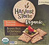 Harvest Stone Organic Toasted Sesame Brown Rice & Chickpea Crackers