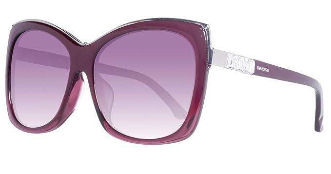 Swarovski Sonnenbrille SK0090-F 5971T, Gafas de Sol para Mujer, Rojo (Burgundy), 59