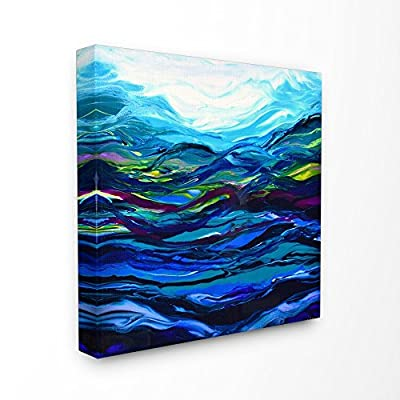 Stupell Industries Acrylic Resin Waves Under Water Ripples Abstract Canvas Wall Art, 30 x 30, Multi-Color