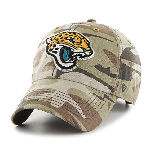 Camo Sparkle ('47 NFL Jacksonville Jaguars Women's Sparkle Camo Clean Up Hat, Women's, Faded Camo)