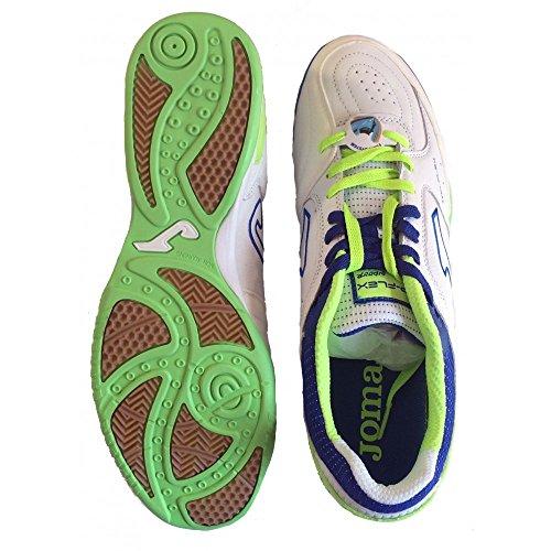 Joma - Zapatillas de fútbol sala para hombre Blanco WHITE/FLUOR turquesa