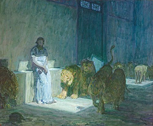 Classic Art Poster - Daniel in The Lions' Den by Henry Ossawa Tanner ()