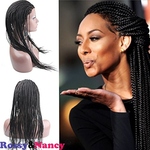 Full French Wigs Lace (Rossy&Nancy Best Braided Full Lace Wigs for Black Women Human Hair 10inch)