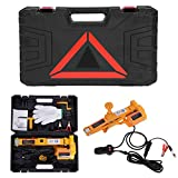 Automotive Car Electric Jack,3 Ton 12V DC Electric Scissor Car Jack Lifting Tire Wheel Repair Changing Kit SUV Van and Emergency Equipment