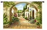 Manual Quaint Town Grande Tapestry Wall Hanging, 70 X 50-Inch