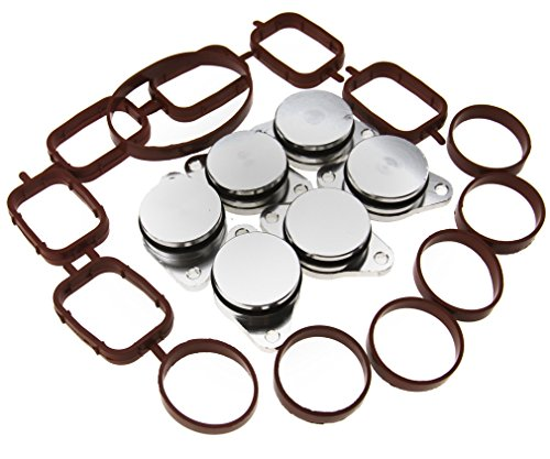 Amazon Com 6pcs 32mm Swirl Flap Blanking Kit With Manifold Gasket