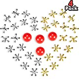 4 Set Jacks Game Toys Kit, Include 40 Pieces