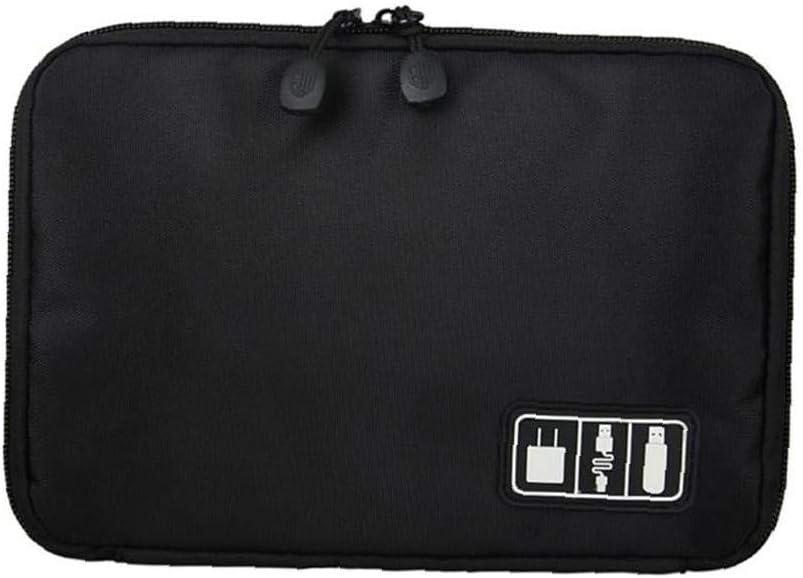 Organizer Travel Universal Cable Organizer Tasche wasserdichte Elektronik-zubeh/ör Aufbewahrung F/ür Kabel-ladeger/ät Handy-sd-Karte 1pc schwarz