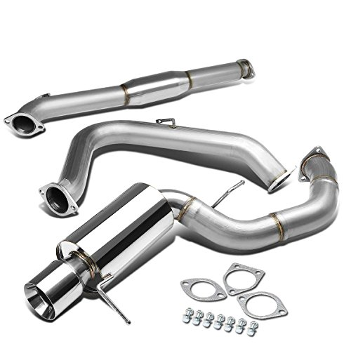 For Mitsubishi Eclipse G3 V6 Stainless Steel 4 inches Rolled Muffler Tip Catback Exhaust System