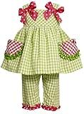 Bonnie Baby Baby Girls' Watermelon Pockets Seersucker Capri Set, Green, 18 Months