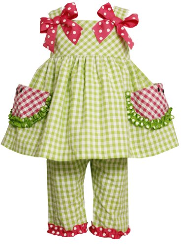 Bonnie Baby Baby Girls' Watermelon Pockets Seersucker Capri Set