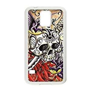 HB-P-CASE DIY Design Artistic Skull Pattern Phone Case For SamSung Galaxy S5 i9600