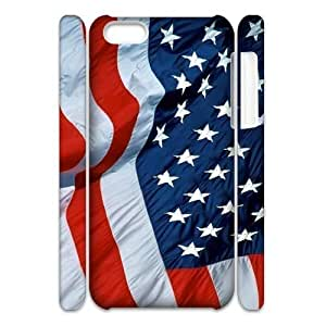 3D Cases For IPhone 5C, American Flag 3 Cases For IPhone 5C, Doah White