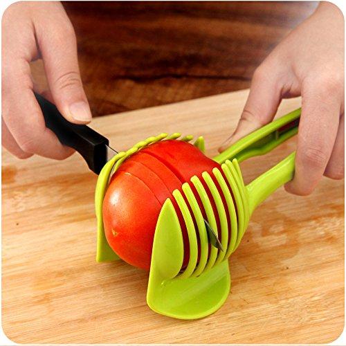 Rienar Tomato Slicer ,Multifunctional Handheld Tomato Round Slicer Fruit Vegetable Cutter,Lemon Shreadders Slicer by Rienar (Image #4)