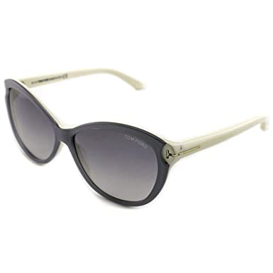 db39b4bb0b35 Image Unavailable. Image not available for. Color  Tom Ford Women s Telma  Cat Eye Grey Blue Sunglasses