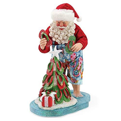 Department 56 Possible Dreams Santas by The Sea Flip Flop Tree Figurine, 10.5