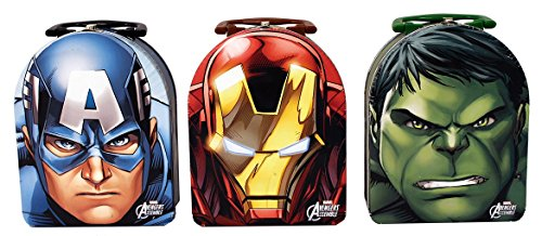 Marvel Avengers Captain America Iron Man Hulk - Set of (3) Tin Arch Carry All -Tin Lunch -